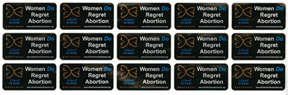 Picture of Women Do Regret Abortion envelope stickers