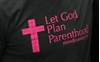 Picture of Let God Plan Parenthood t-shirt