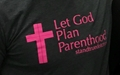 Picture of Let God Plan Parenthood t-shirt