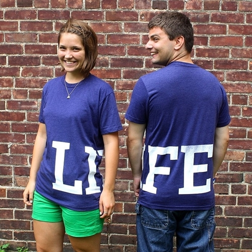 LIFE LOGO shirt (purple)