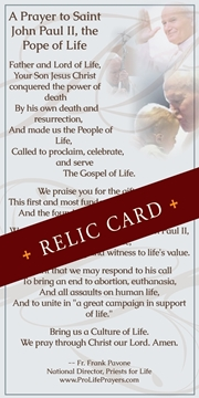 Picture of Pope John Paul II Relic Cards