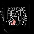 My Heart Beats Just Like Yours 4in. sticker